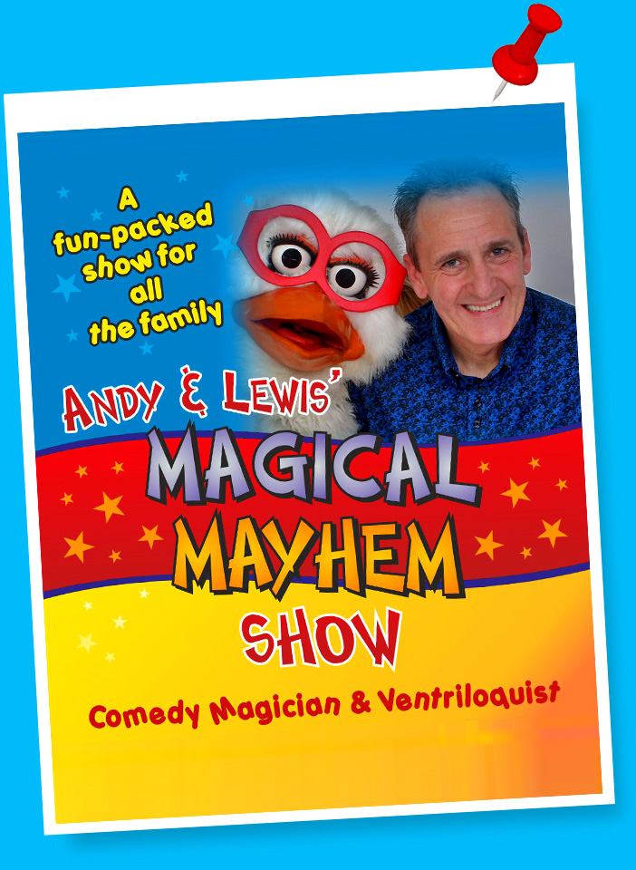 Andy and Lewis Theatre Shows for Children in Worksop, Rotherham, Doncaster, Rotherham, Chesterfield and Sheffield